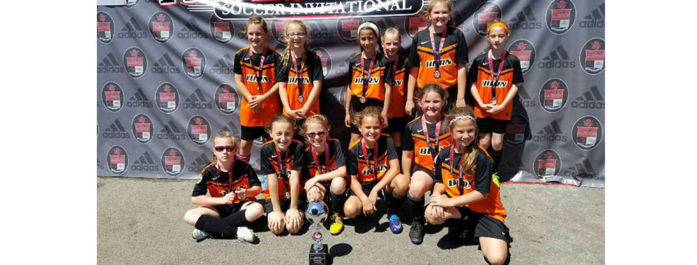 U10 Girls 07 Black Finalists at Pacesetters!