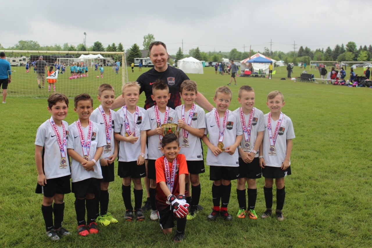 11 Black U8 Boys are 2019 Canton Cup Champions!