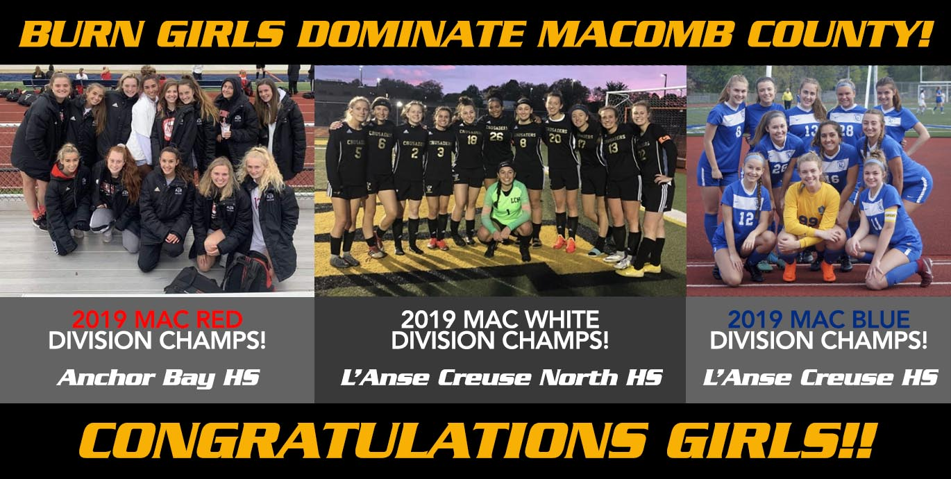 Burn Girls Dominate Macomb County!