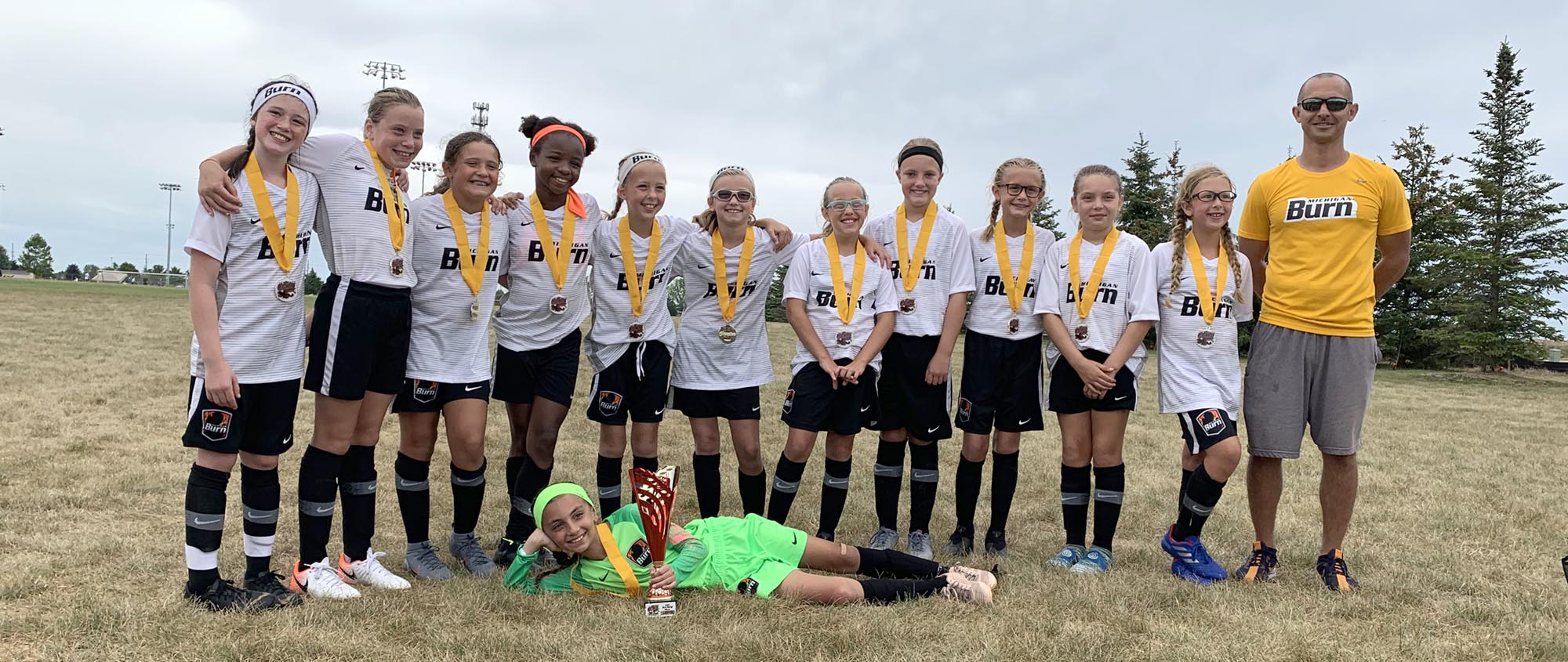U11 Girls Black 09 DA are Rush Kickoff Champions!