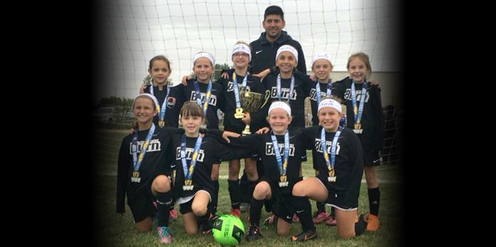U9 Girls 10 Black Lightning Cup Champs